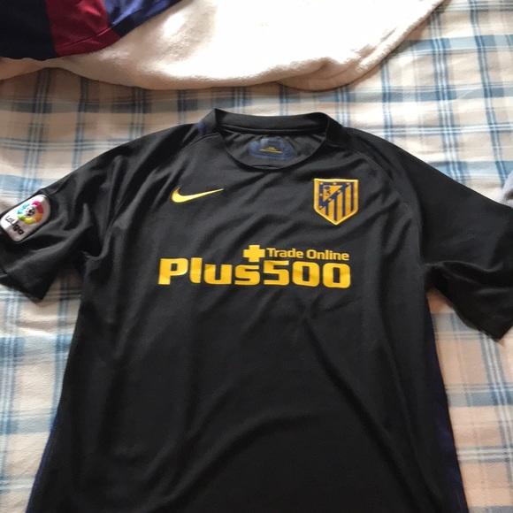 new arrival 0b497 d7c25 Griezmann away soccer jersey black atletico madrid